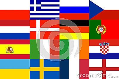 Football Europe Pattern Background