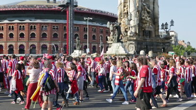 Football Fans Of Athletic Bilbao Club Before The Final ...