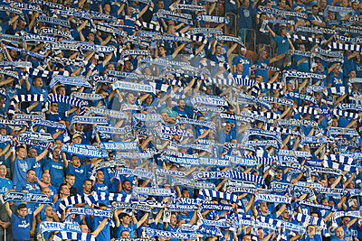 Football fans. Editorial Photography