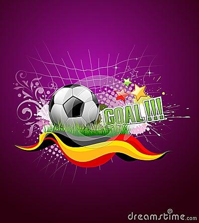 Football festival artistic background