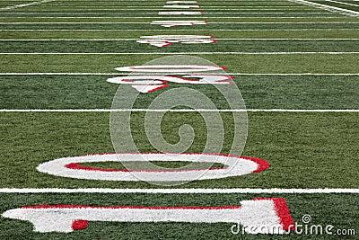 Football field from 10 yard line