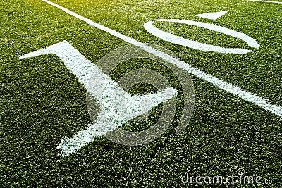 Football Field 10 Yard Line