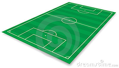 Football Field Royalty Free Stock Photography - Image: 14104507