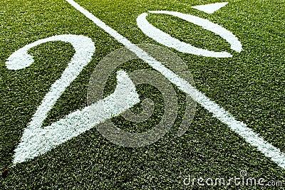 Football Field with 20 Yard