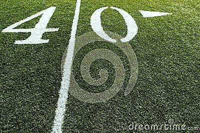 Football Field on 40 Yard Line