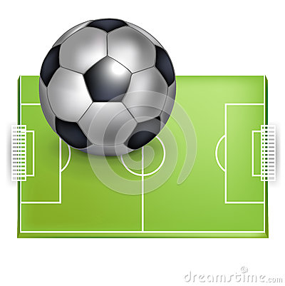 Football field and football/soccer ball