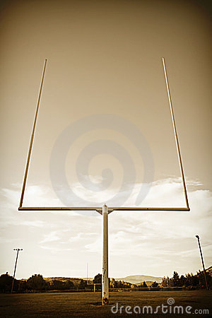Football Field Goal Posts vintage