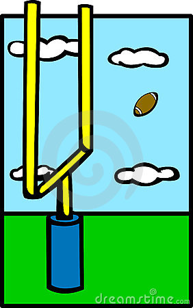 Free Football Field Goal Vector Illustration Royalty Free Stock Image - 7636286