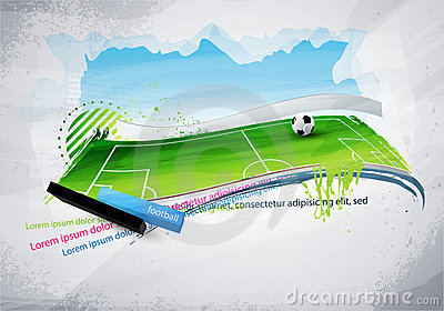 Football field painted