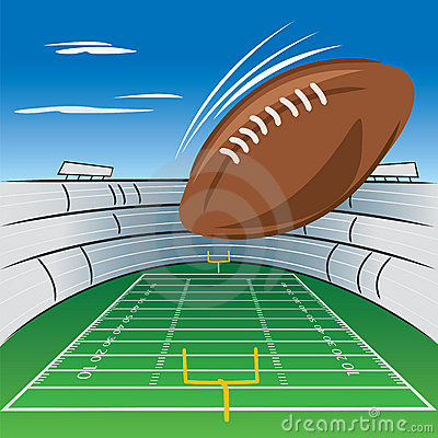 Football Field And Stadium Royalty Free Stock Photography - Image: 20904597