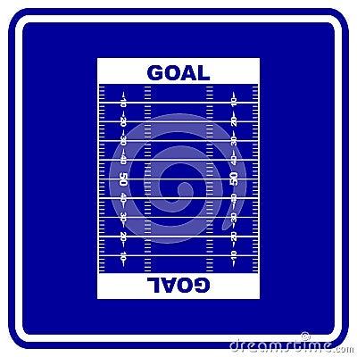 football field vector sign