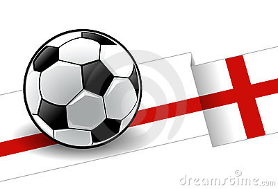 Football with flag - England