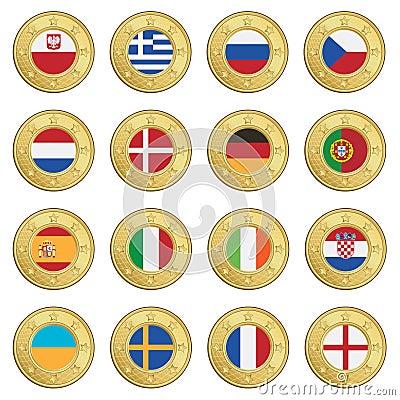 Football flag icons