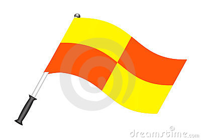 Football flag (referee flag)