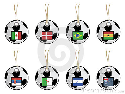 Football flag tags