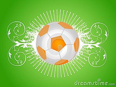 Football on floral
