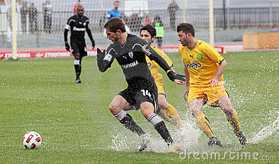 Football game between Eordaikos and Paok Editorial Photography