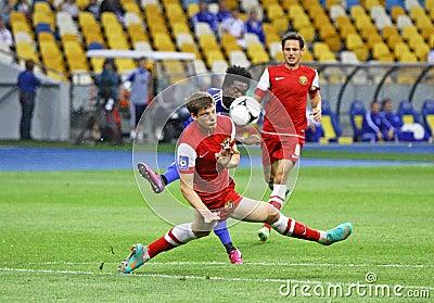Football game FC Dynamo Kyiv vs Metalurh Zaporizhya Editorial Image