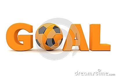 Football Goal Orange