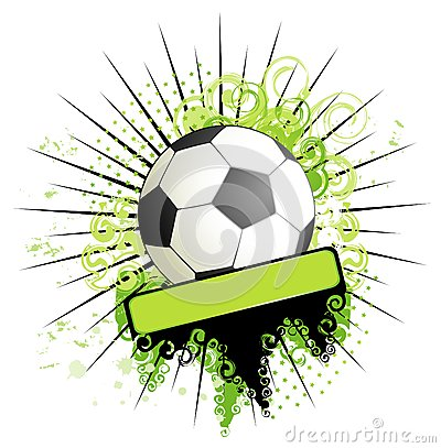 Football on a grange background
