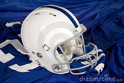 Football Helmet and Jersey