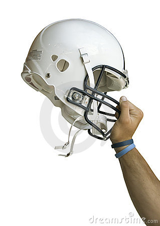 Football Helmet Raised