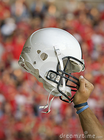 Football Helmet Raised