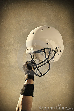 Football Helmet Sepia toned
