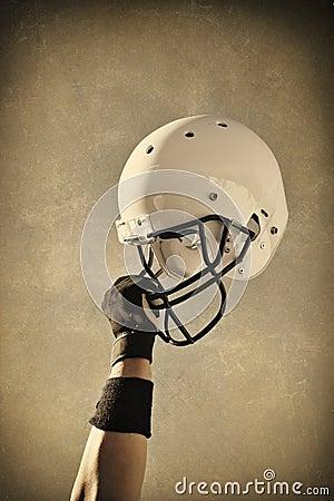 Free Football Helmet Sepia Toned Royalty Free Stock Image - 11745856