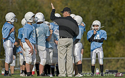 Football huddle Editorial Photography