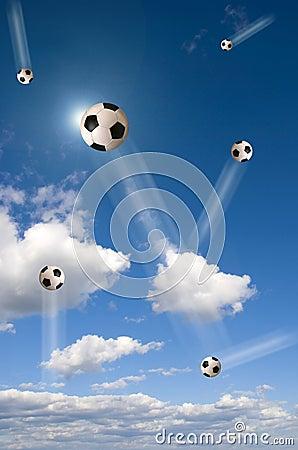 Free Football In The Sky Stock Photos - 4719093