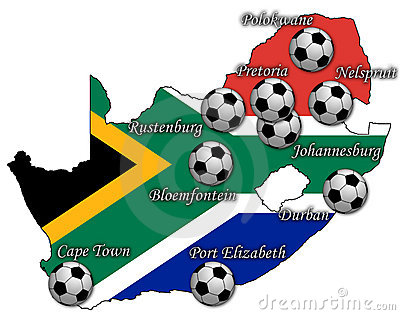 Football map of rsa