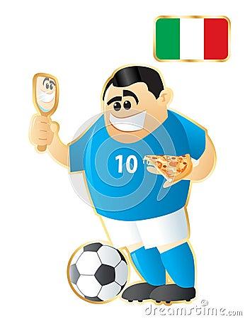 Football mascot Italy