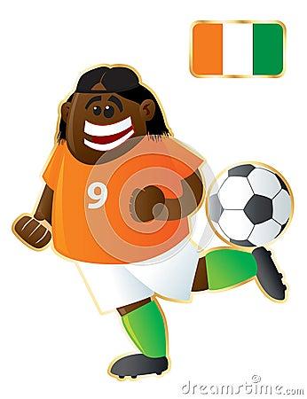 Football mascot Ivory Coast