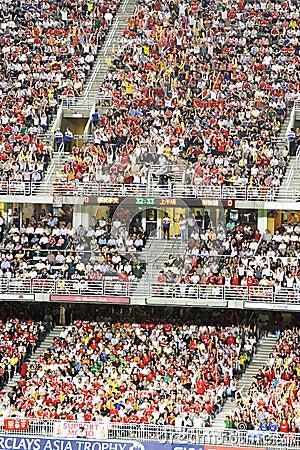 Football match in Hong Kong Stadium Editorial Image