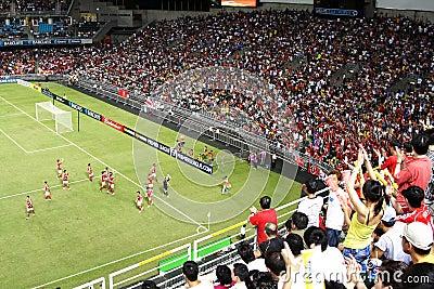 Football match in Hong Kong Stadium Editorial Stock Image