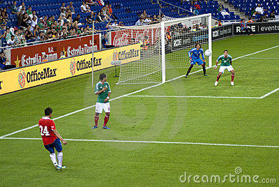 Football match. Mexico-Chile Editorial Image