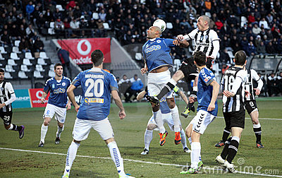 Football match between Paok and Atromitos (1-2) Editorial Stock Image