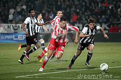 Football match between Paok and Olympiakos Editorial Photo
