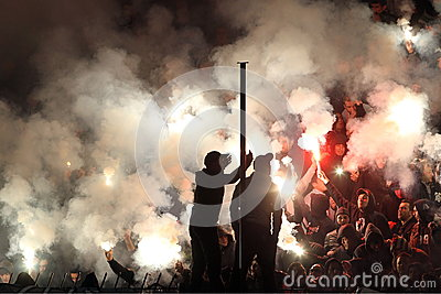 Football match between Paok and Panathnaikos Editorial Photo