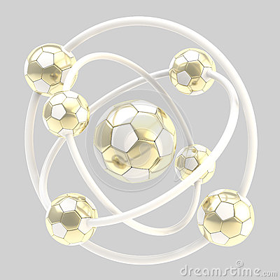 Football molecule made of balls