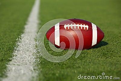 Football near the Yard Line