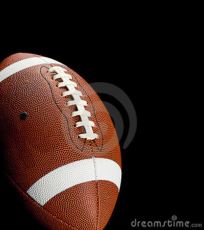 Free Football On Black Stock Images - 3259194