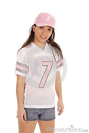 Football pink smile