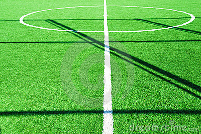 Football pitch on bright day