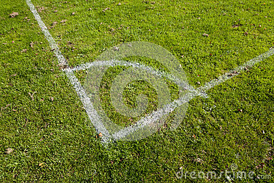 Football Pitch Corner Markings