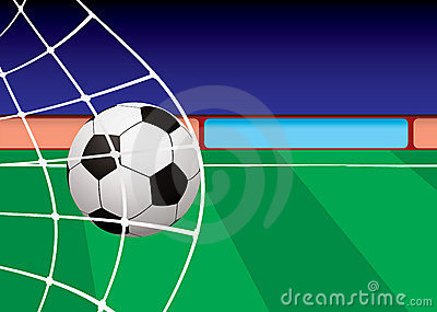 Football pitch goal net
