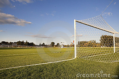Football pitch goal post