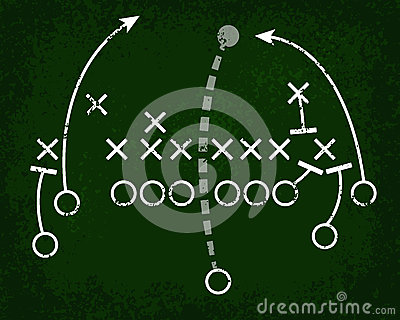 Football Play Chalkboard