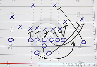 football play diagram stock images   image